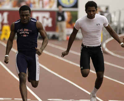 cameron burrell l broke the meet record in the 60m overbrandon hill