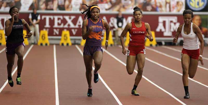 aaliyah brown center defended her 60m title